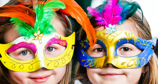 Mascaras de Carnaval para Colorir e Imprimir