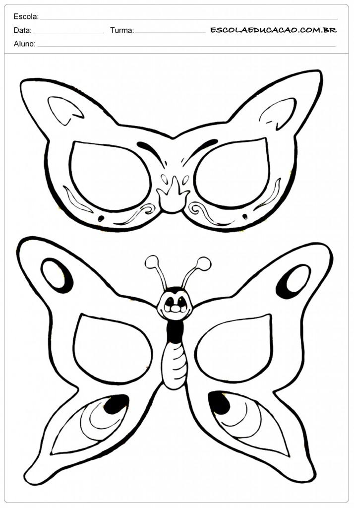Molde de Máscara de Borboleta