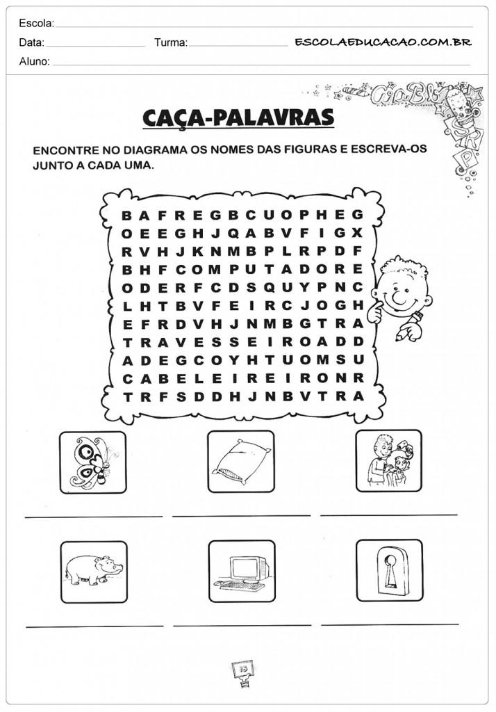 Atividades de Gramática - Caça Palavras - Diagrama