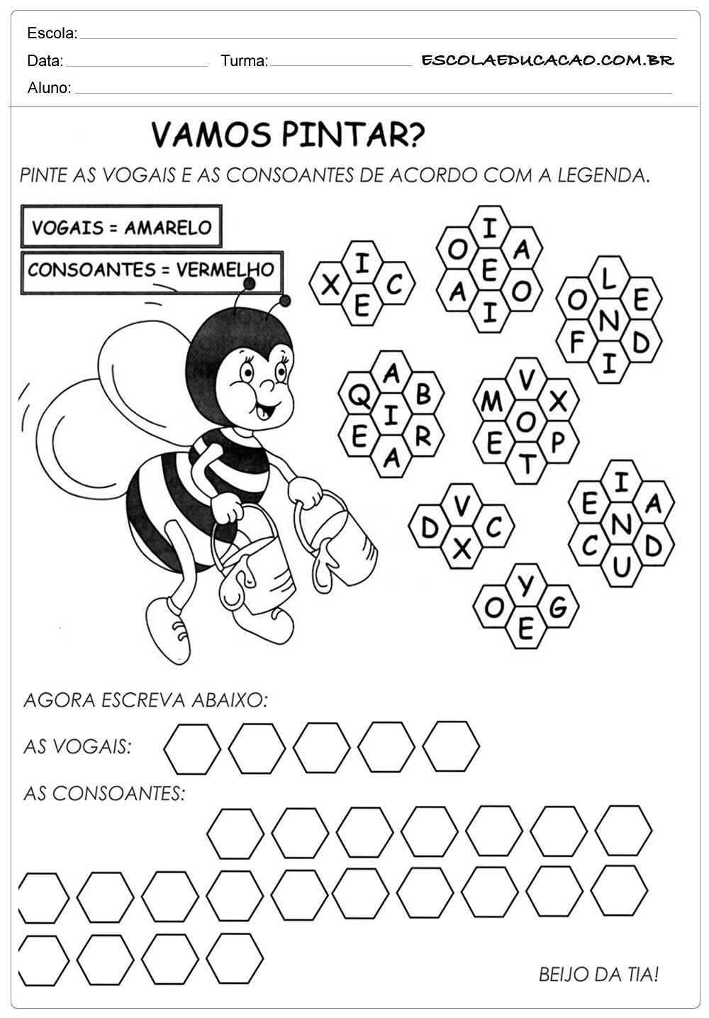 Vogais e as Consoantes