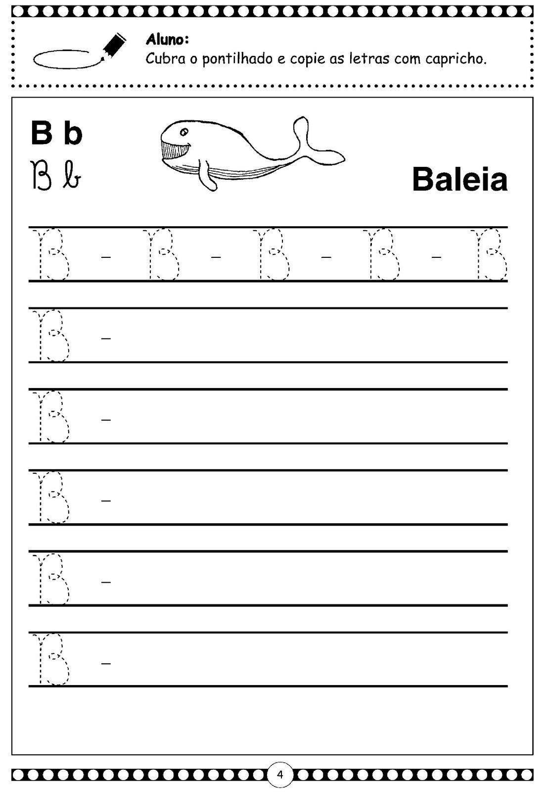 Letra Cursiva – B – Maiúscula