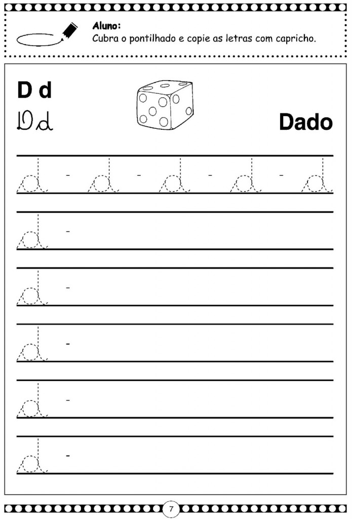 Alfabeto Cursivo Letra D - Minuscula