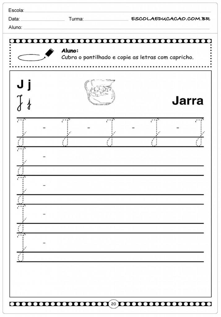 Atividades Letra J - Maiúscula