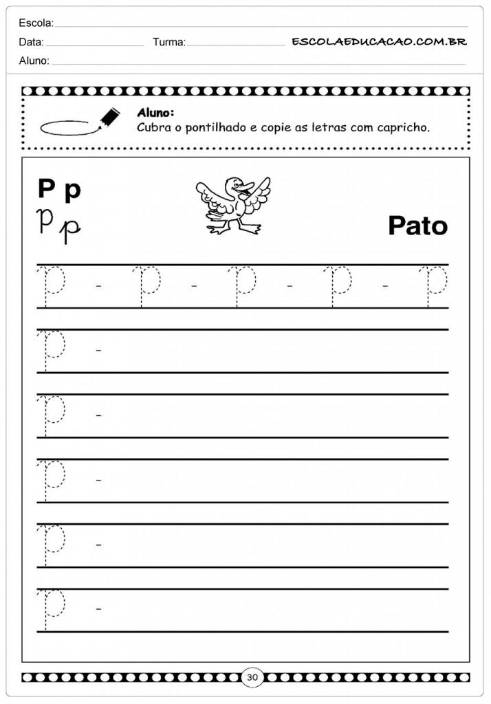Letra Cursiva - Pato
