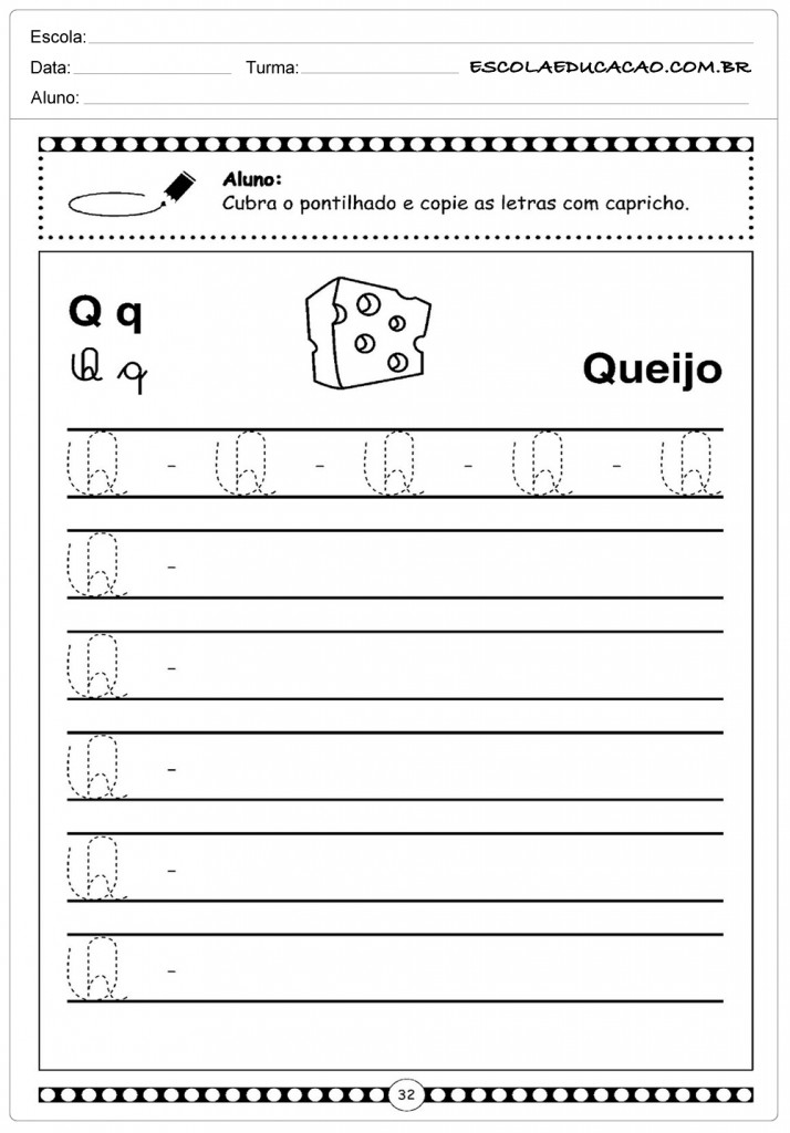 Letra Q - Queijo