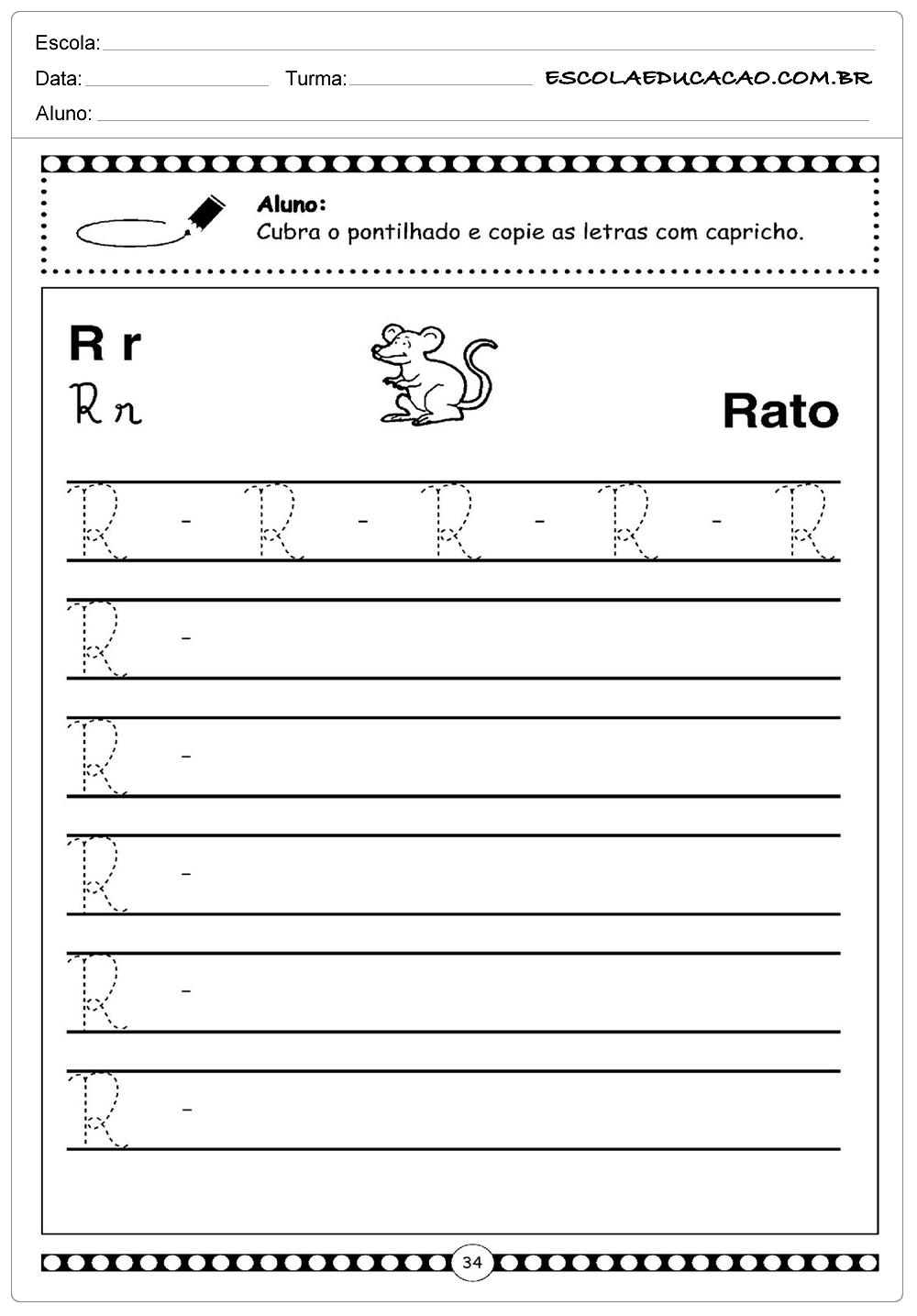 Alfabeto Cursivo – Rato