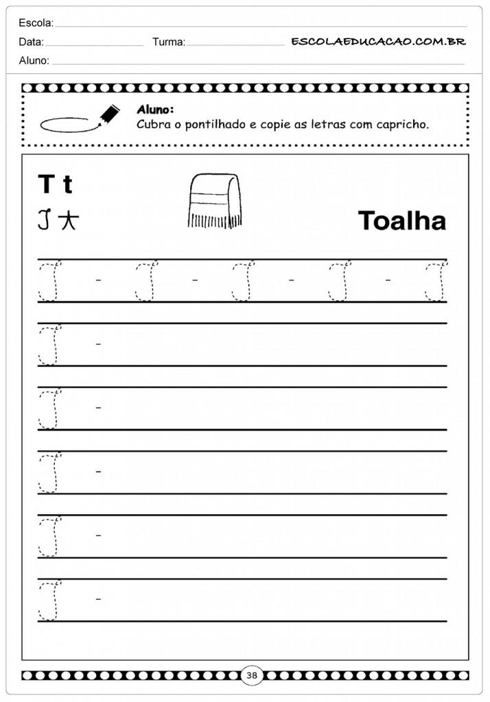 Atividade Letra T - Toalha