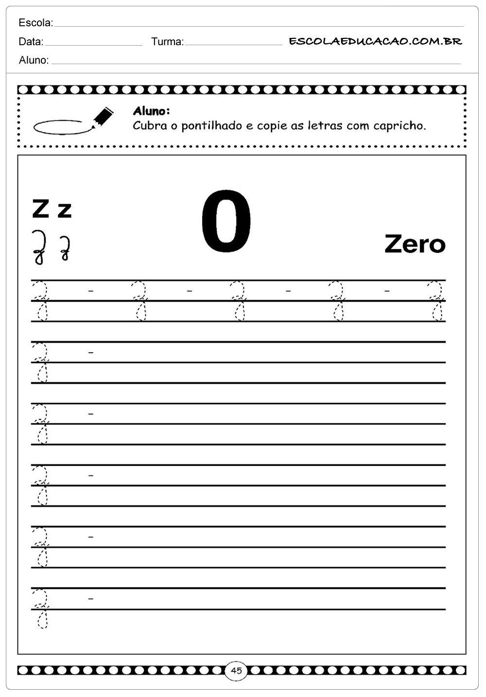 Zero – Letra Z