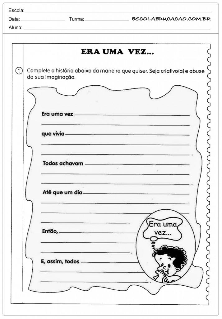Atividades De Produção De Texto 4º E 5º Ano Escola Educação