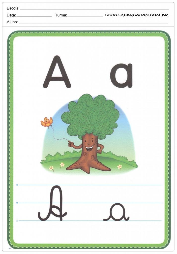 Alfabeto Ilustrado - Letra A