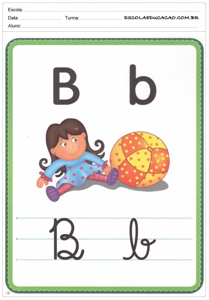 Alfabeto Ilustrado - Letra B