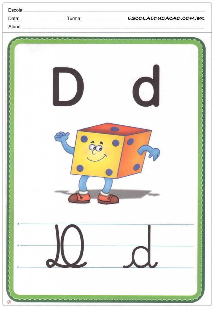 Alfabeto Ilustrado - Letra D