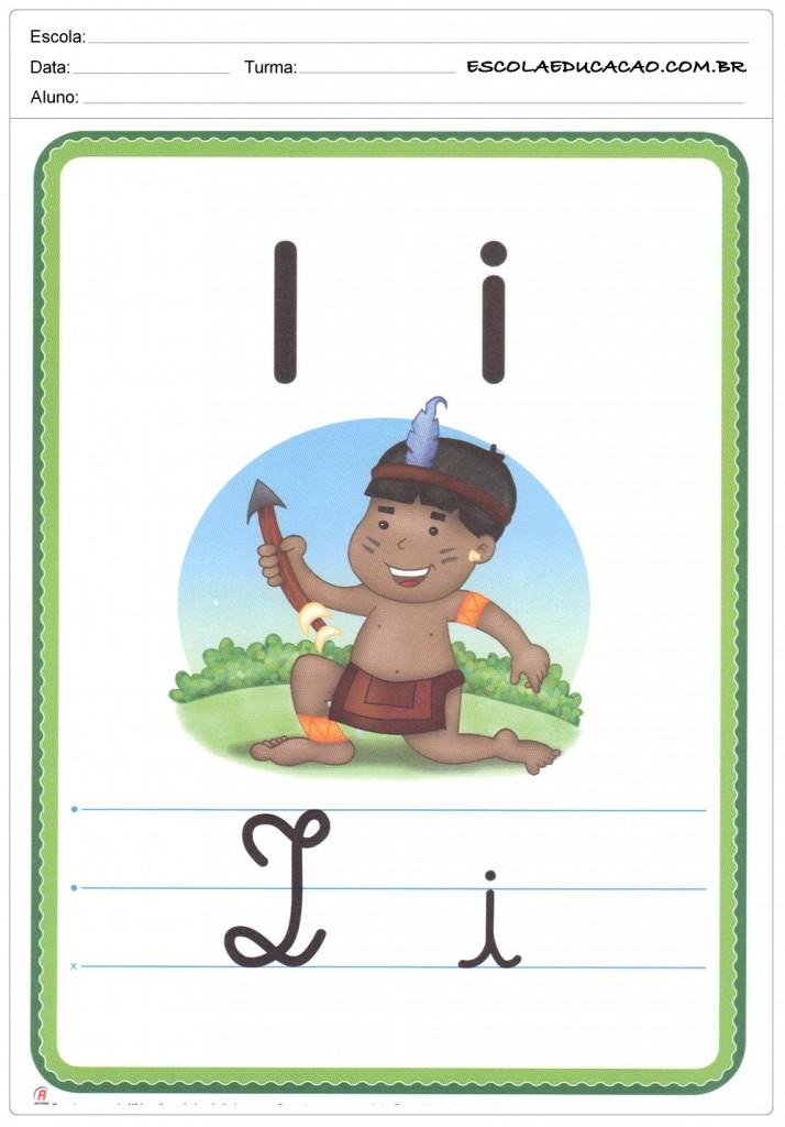 Alfabeto Ilustrado - Letra I