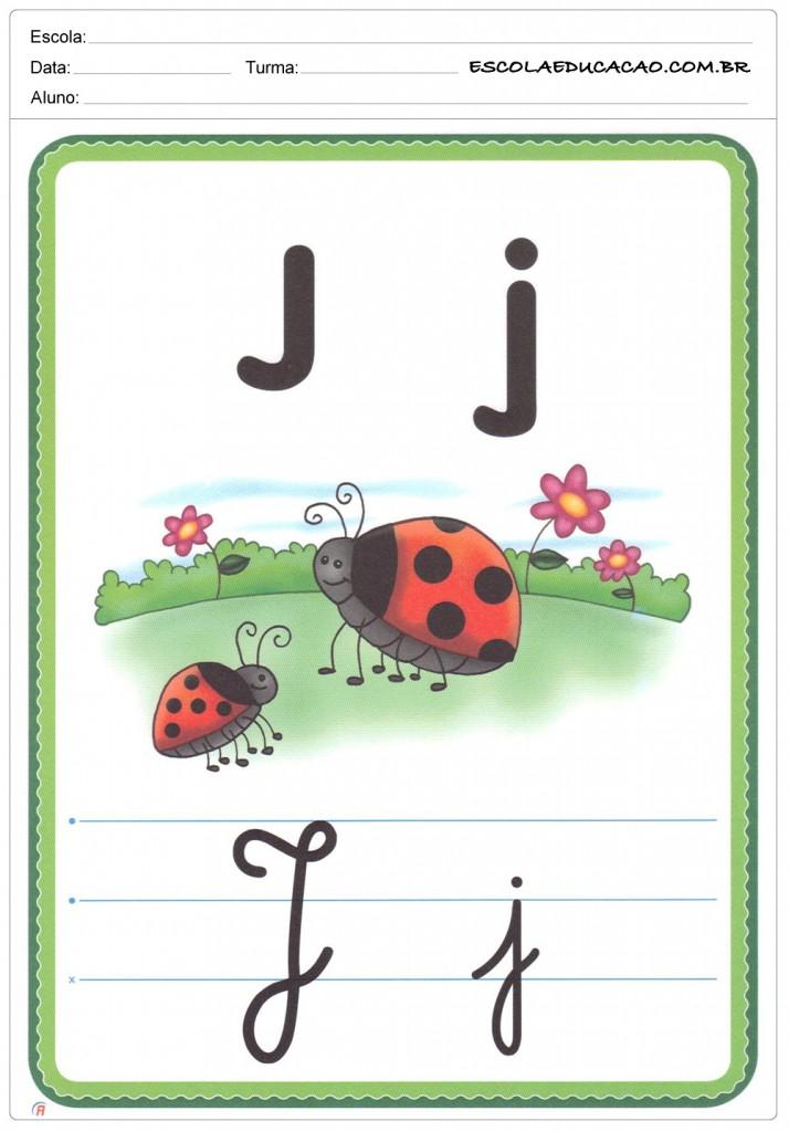 Alfabeto Ilustrado - Letra J