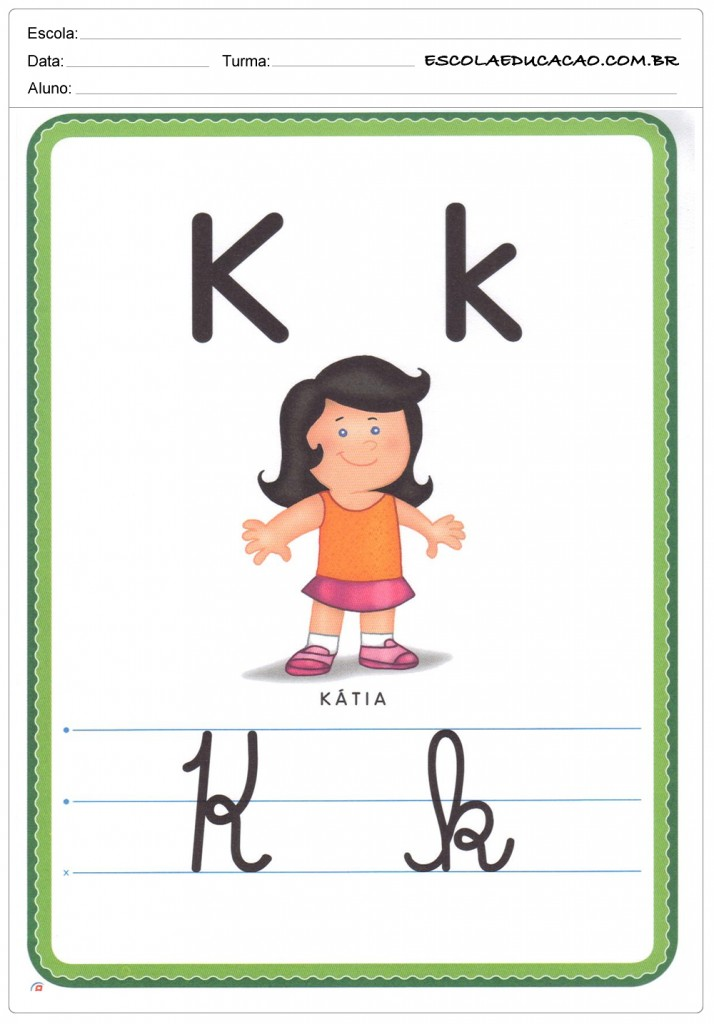 Alfabeto Ilustrado - Letra K