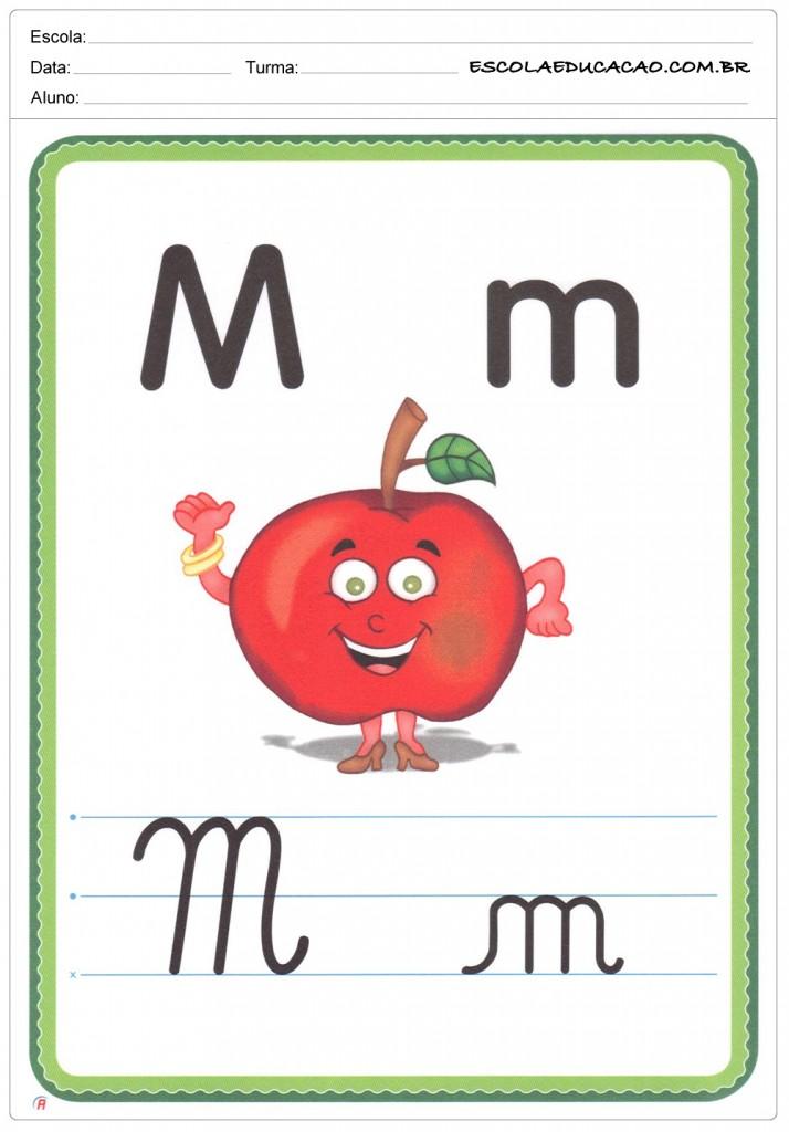 Alfabeto Ilustrado - Letra M