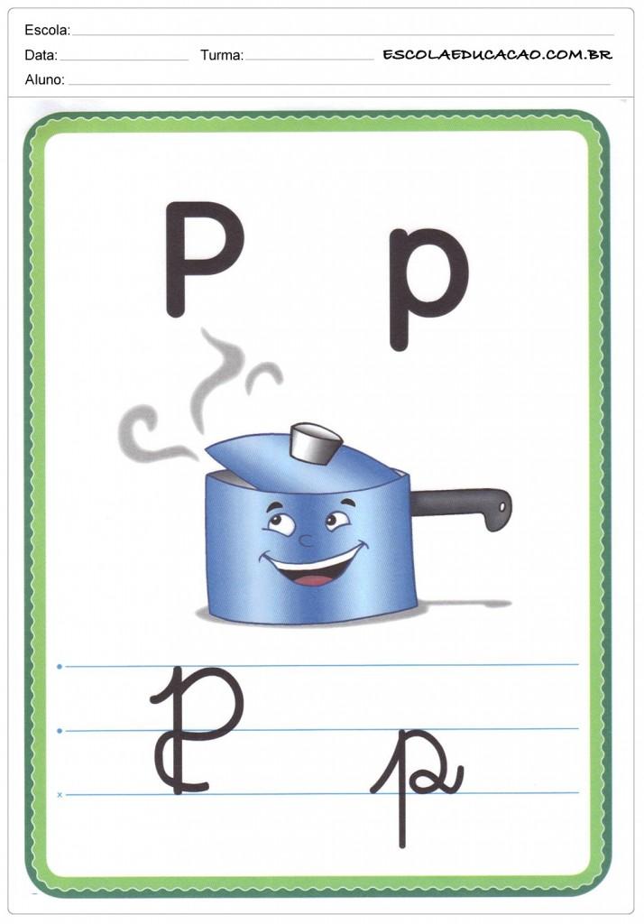 Alfabeto Ilustrado - Letra P