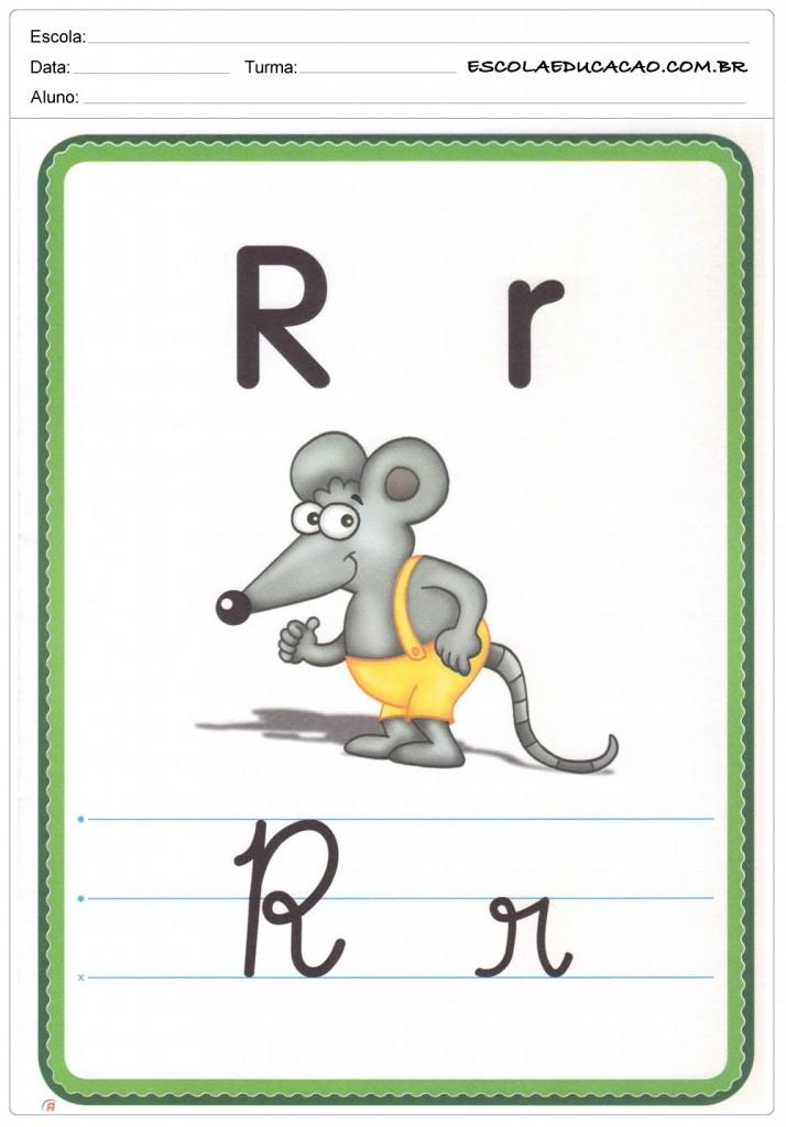 Alfabeto Ilustrado - Letra R