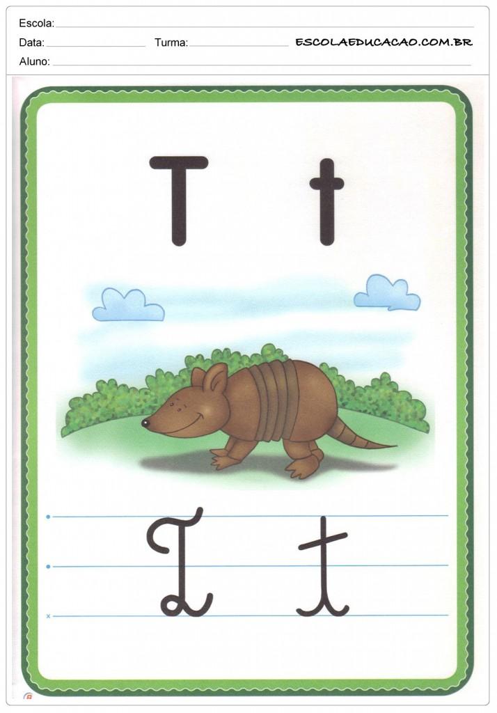 Alfabeto Ilustrado - Letra T