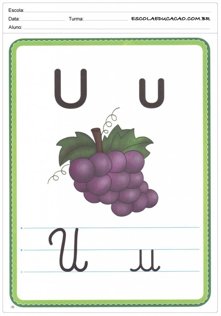 Alfabeto Ilustrado - Letra U