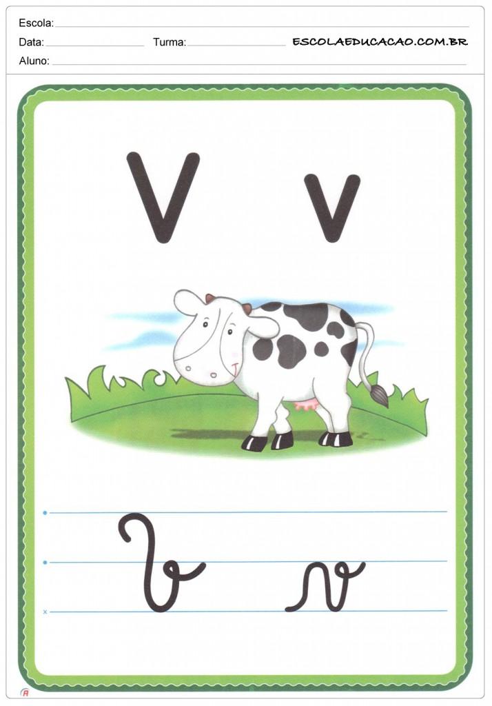 Alfabeto Ilustrado - Letra V