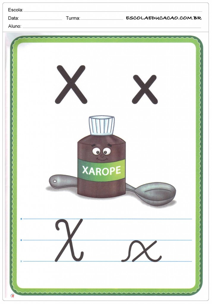 Alfabeto Ilustrado - Letra X