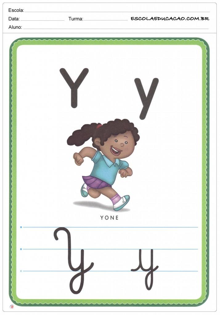 Alfabeto Ilustrado - Letra Y