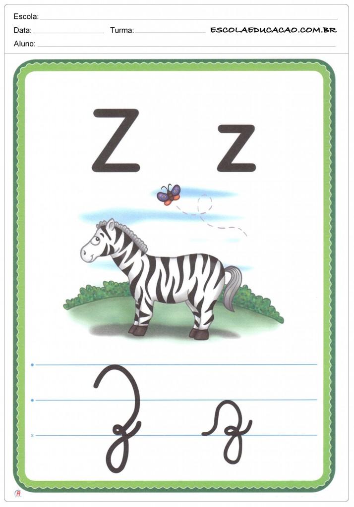 Alfabeto Ilustrado - Letra Z