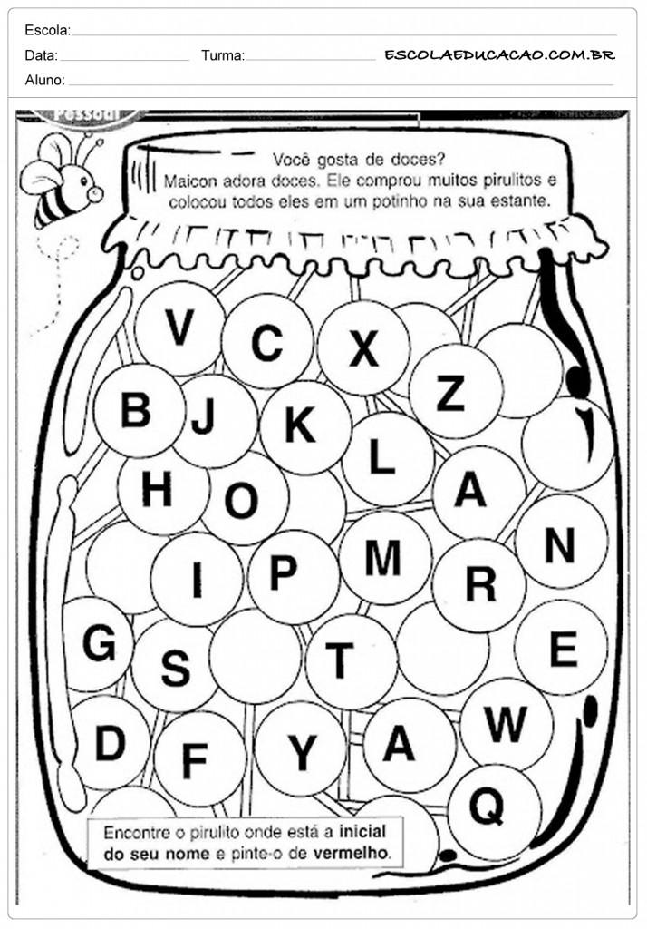 Conhecido Atividades de Identidade - Educação Infantil - Para Imprimir YS55