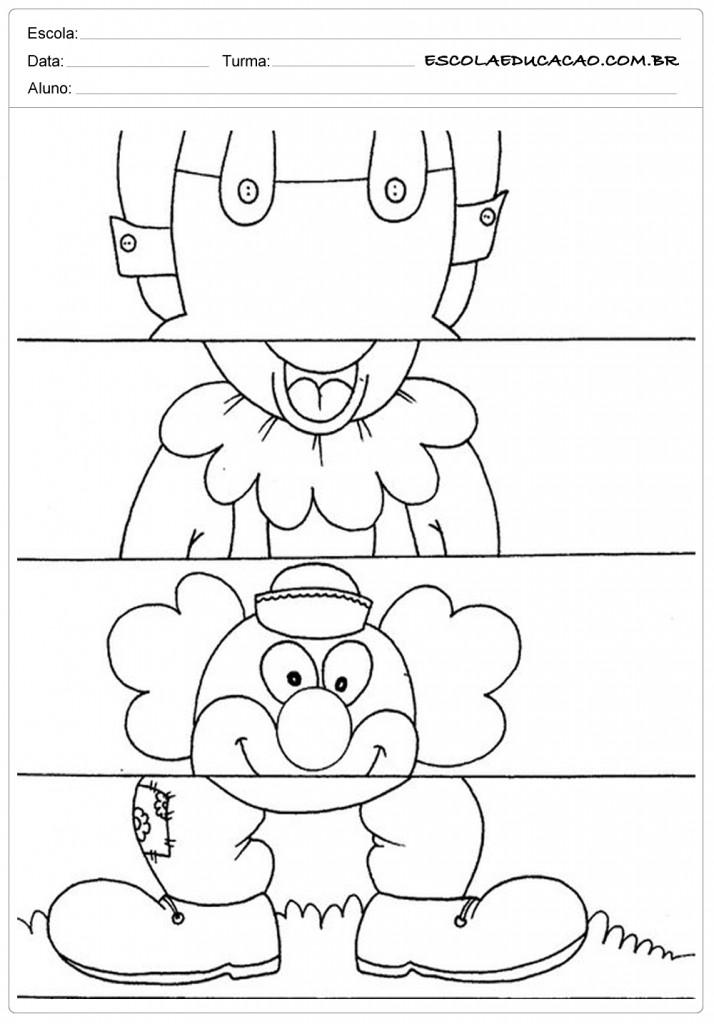 Atividades de Esquema Corporal - Palhacinho