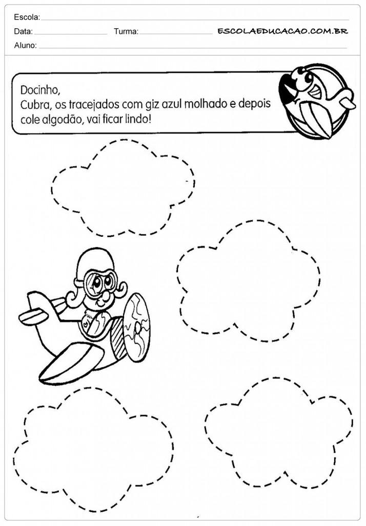 Atividades Pontilhadas Maternal - Avião