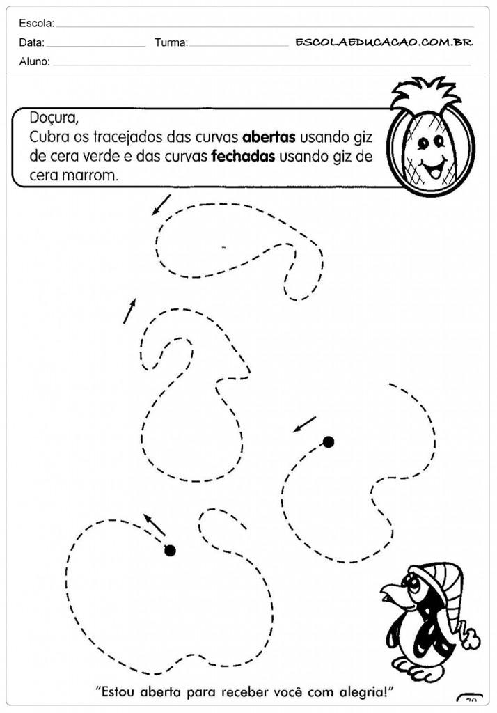 Atividades Pontilhadas Maternal - Cubra as Linhas