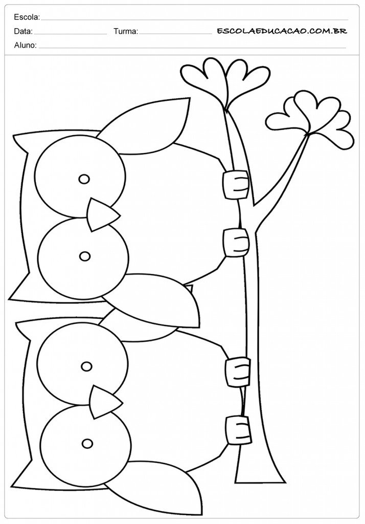 Moldes de Corujas - 2 Corujas