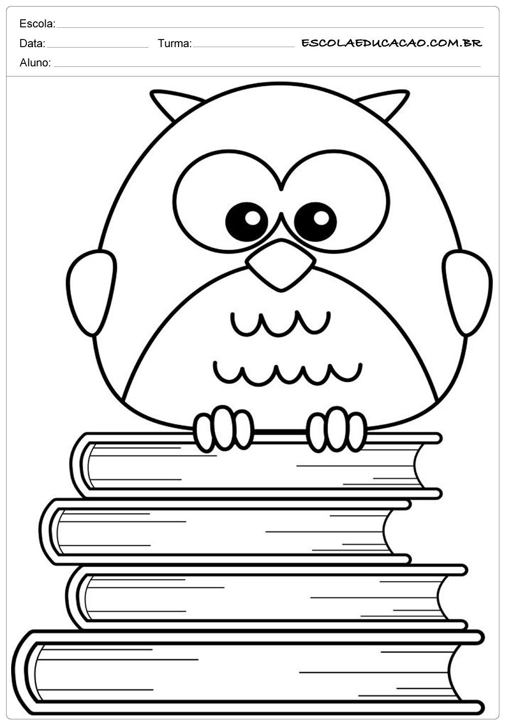 Moldes de Corujas – Corujas nos Livros