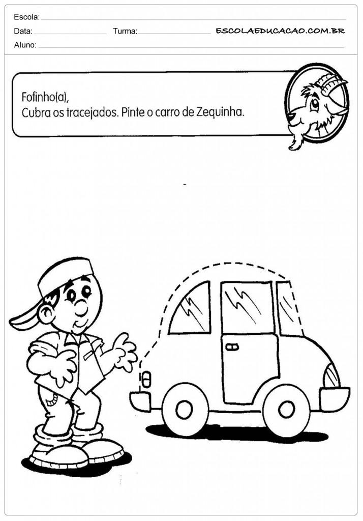 Atividades Pontilhadas Maternal - Carro