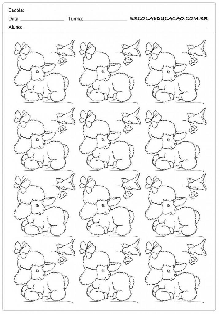 12 ovelhas com pássaros