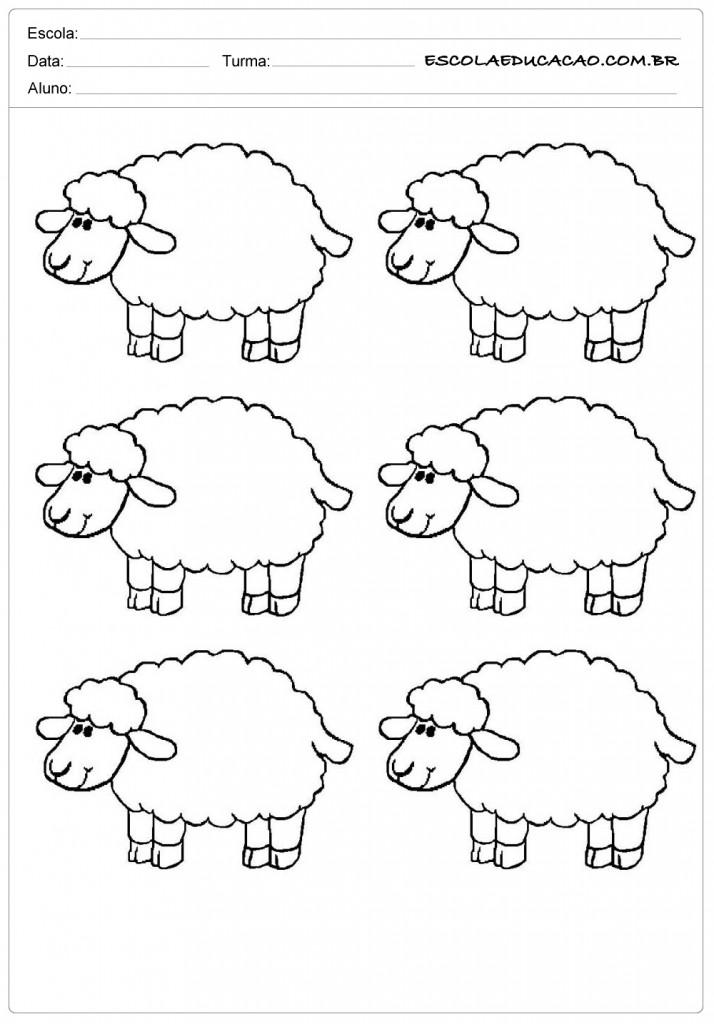 6 ovelhas fofinhas