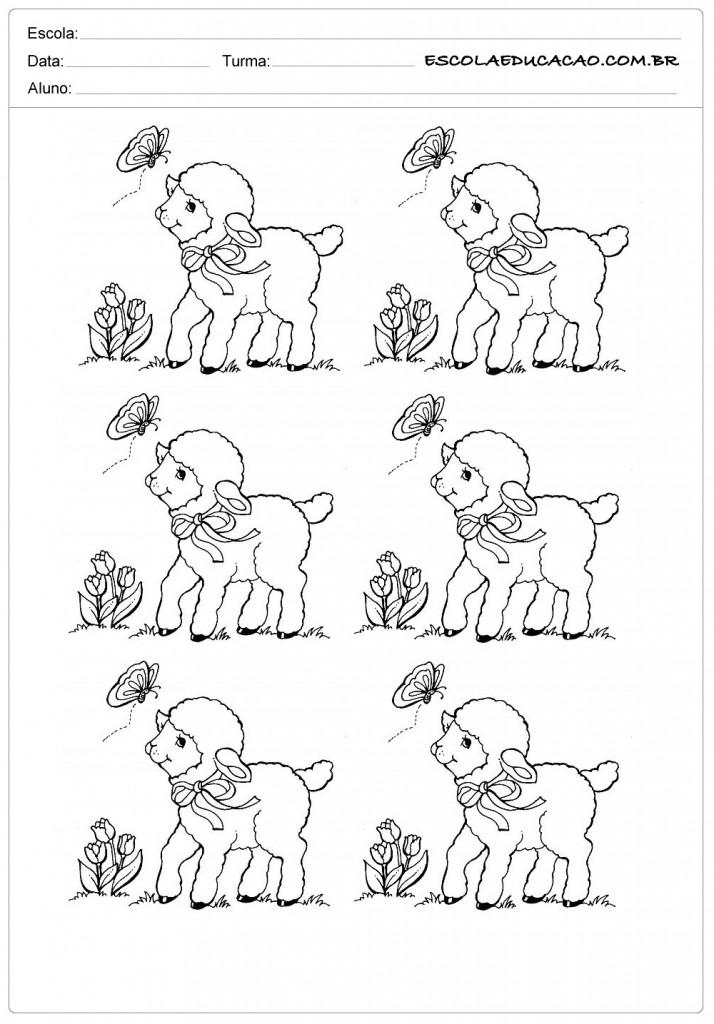 9 ovelhas com borboletas