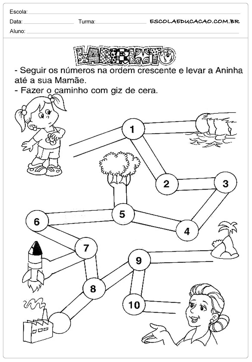 Atividades dia das Mães – Educação Infantil – Labirinto
