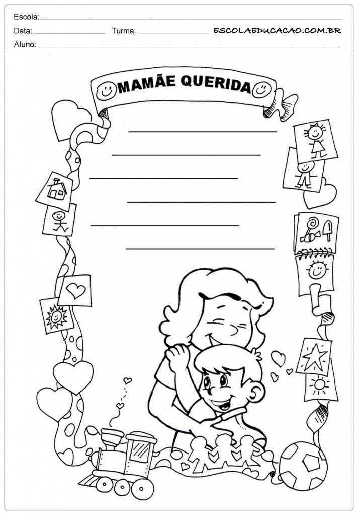 Atividades dia das Mães - Educação Infantil - Mamãe Querida