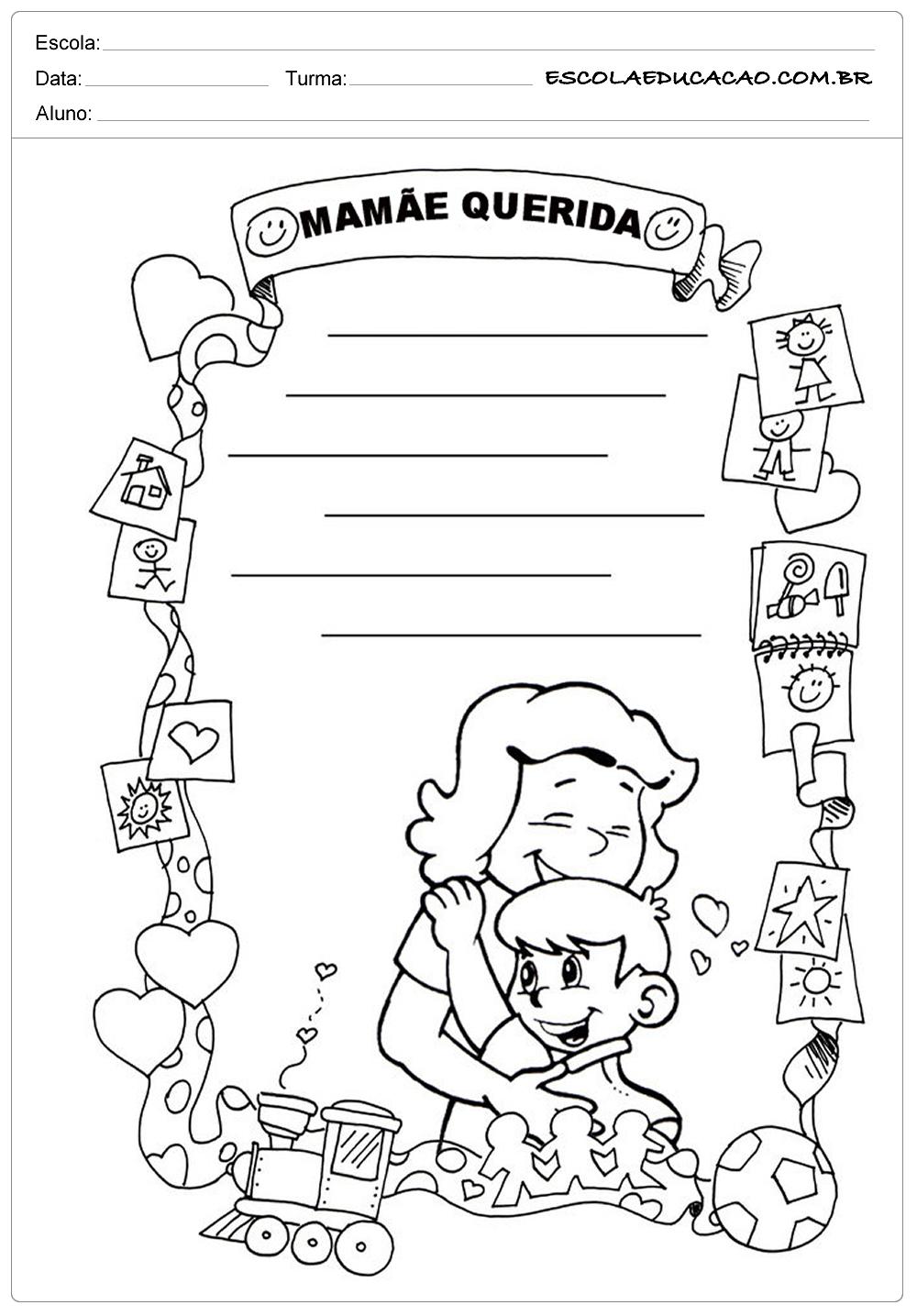Atividades dia das Mães – Educação Infantil – Mamãe Querida