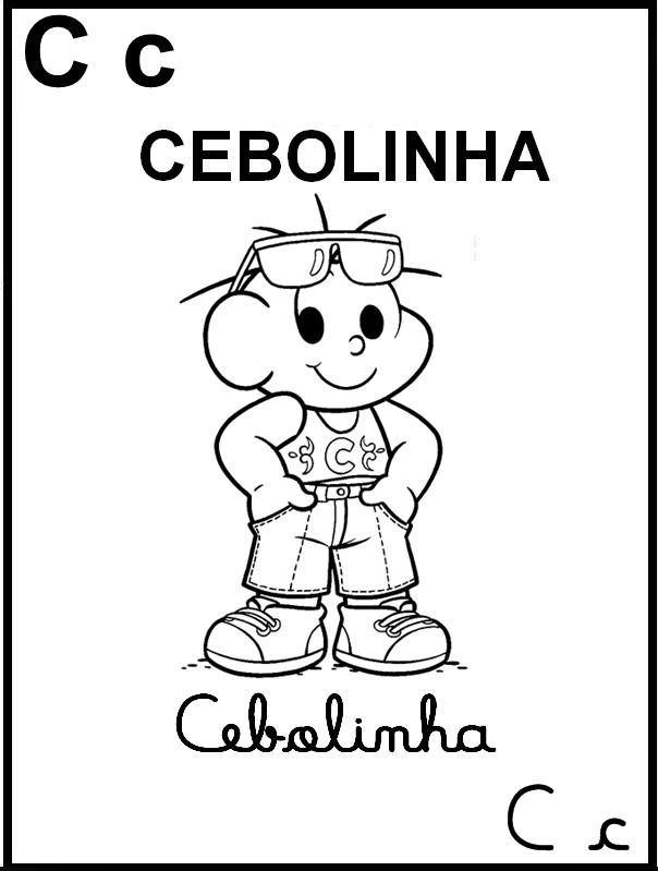 Alfabeto Ilustrado Turma da Mônica - Cebolinha