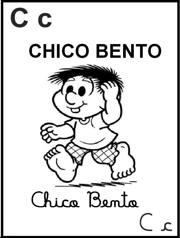 Alfabeto Ilustrado Turma da Mônica - Chico Bento