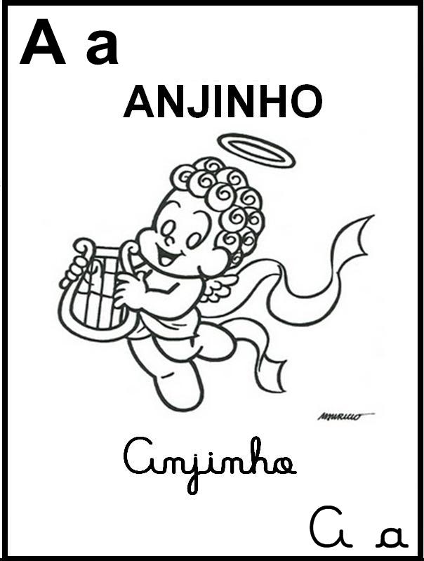 Alfabeto Ilustrado Turma da Mônica - Letra A