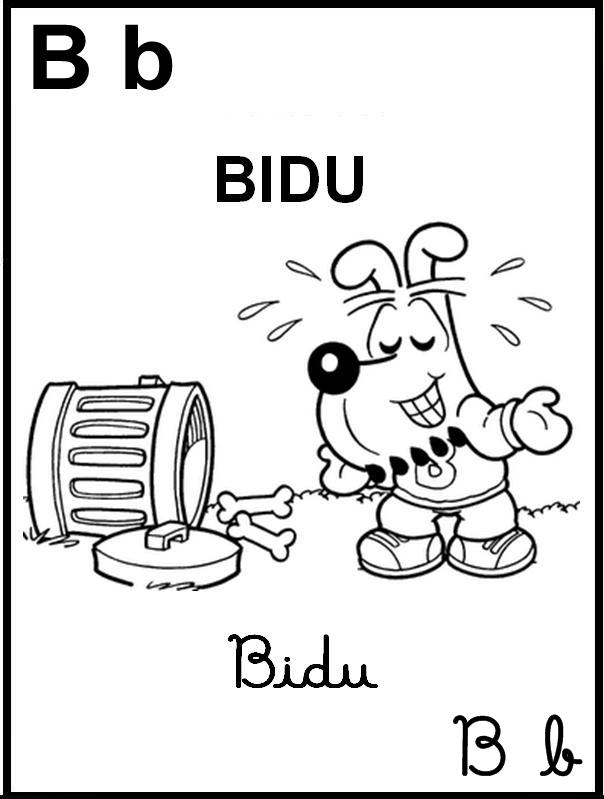 Alfabeto Ilustrado Turma da Mônica - Letra B