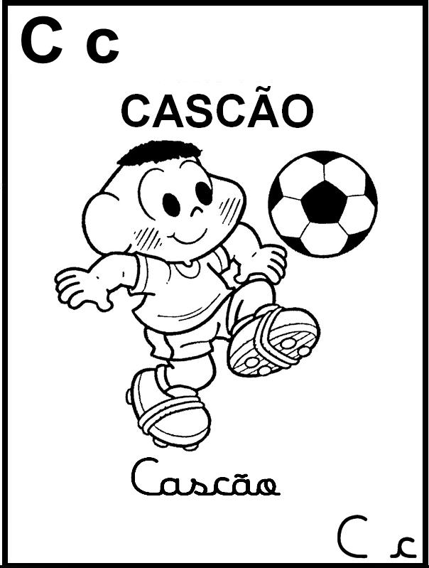 Alfabeto Ilustrado Turma da Mônica - Letra C