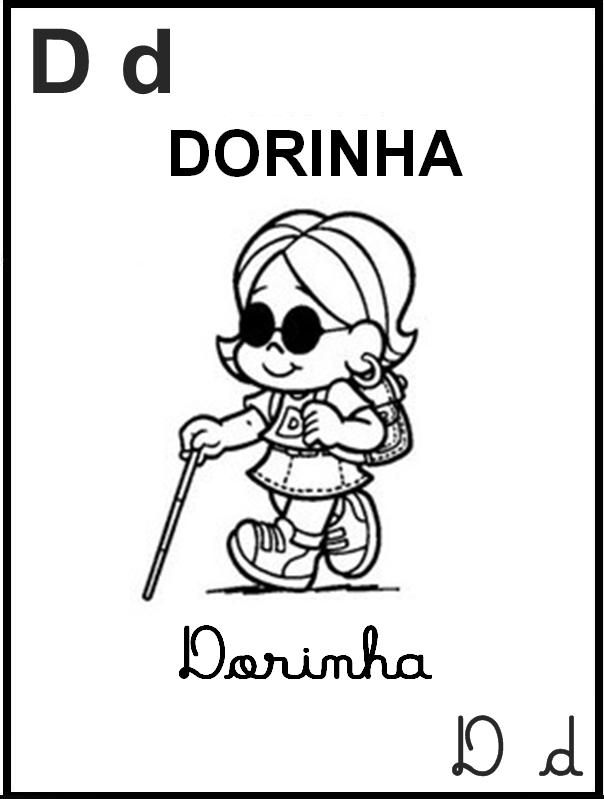 Alfabeto Ilustrado Turma da Mônica - Letra D