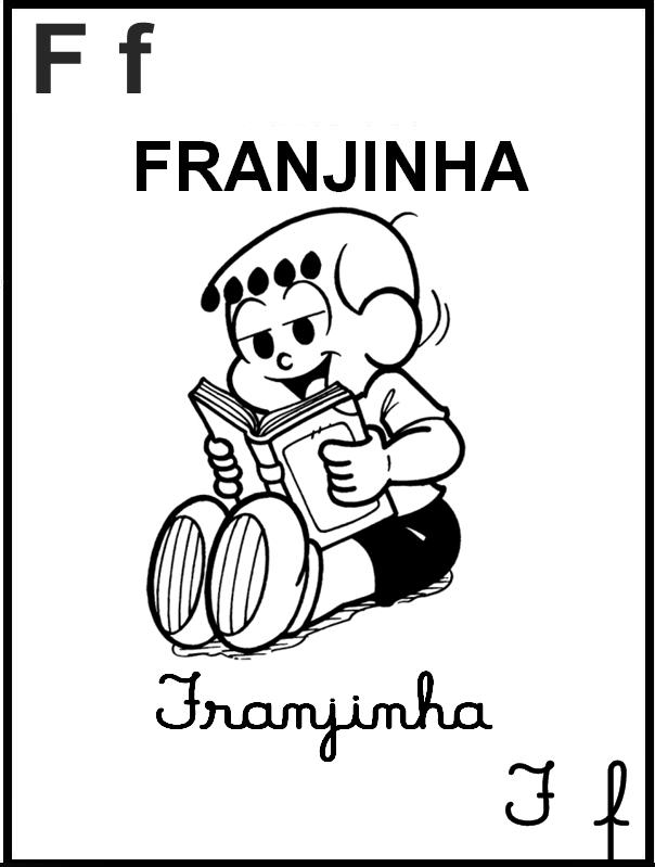 Alfabeto Ilustrado Turma da Mônica - Letra F