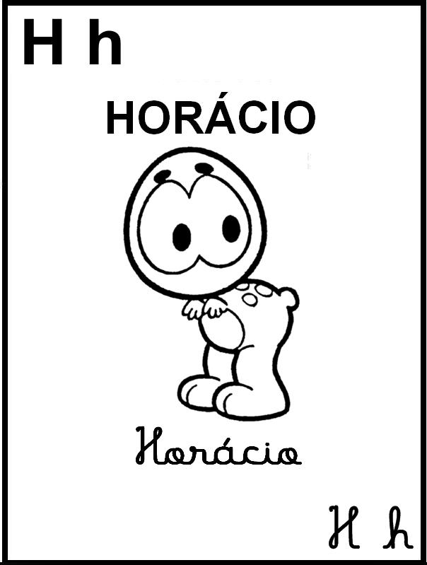 Alfabeto Ilustrado Turma da Mônica - Letra H