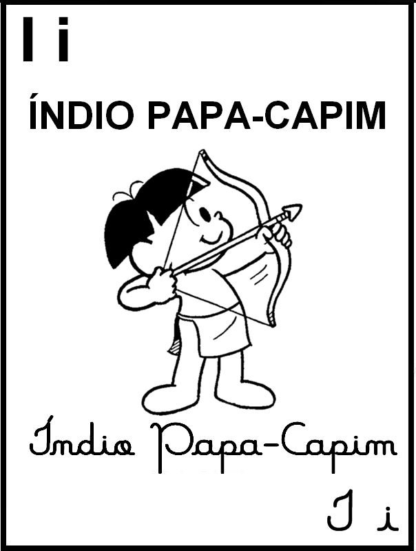 Alfabeto Ilustrado Turma da Mônica - Letra I